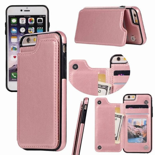 iPhone Case - Card Holder Leather Phone Wallet Case for iphone XS XS MAX XR