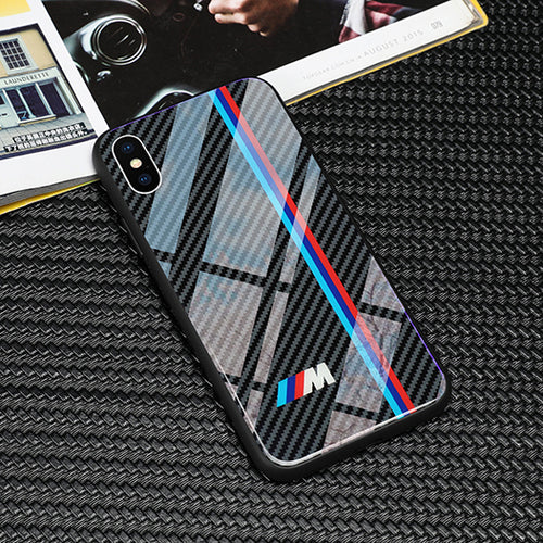 Case - Carbon Fiber Glass Case for iPhone 8 7 6 6S Plus X Xr Xs Max