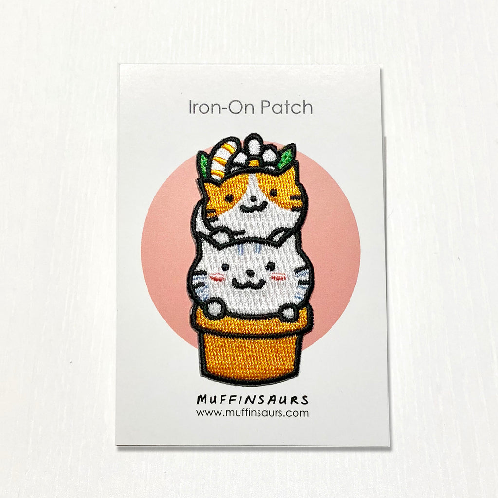 Cats in a Pot Iron-On Patch