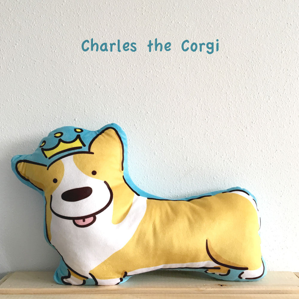 Charles the Royal Corgi Cushion