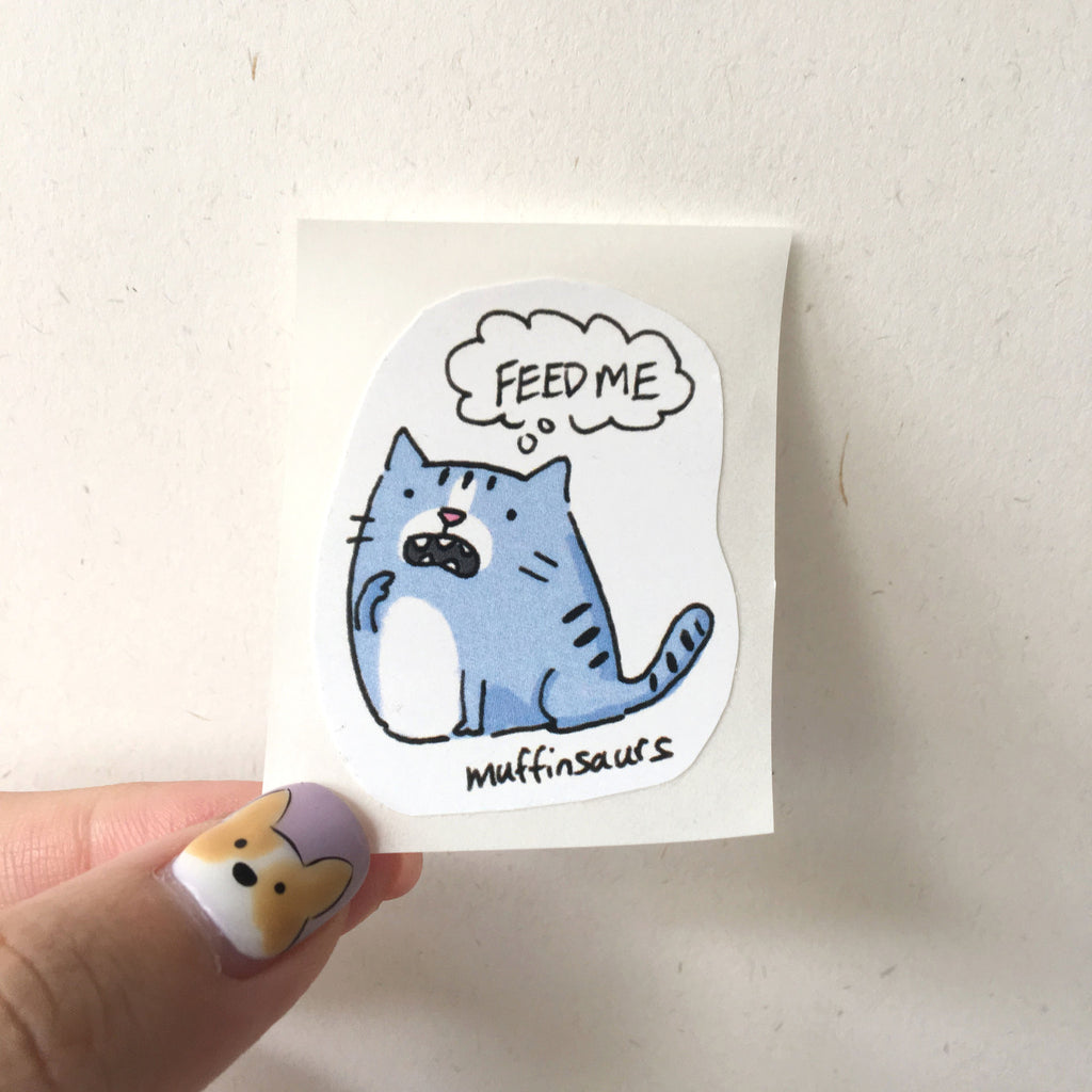 Feed me! Cat sticker