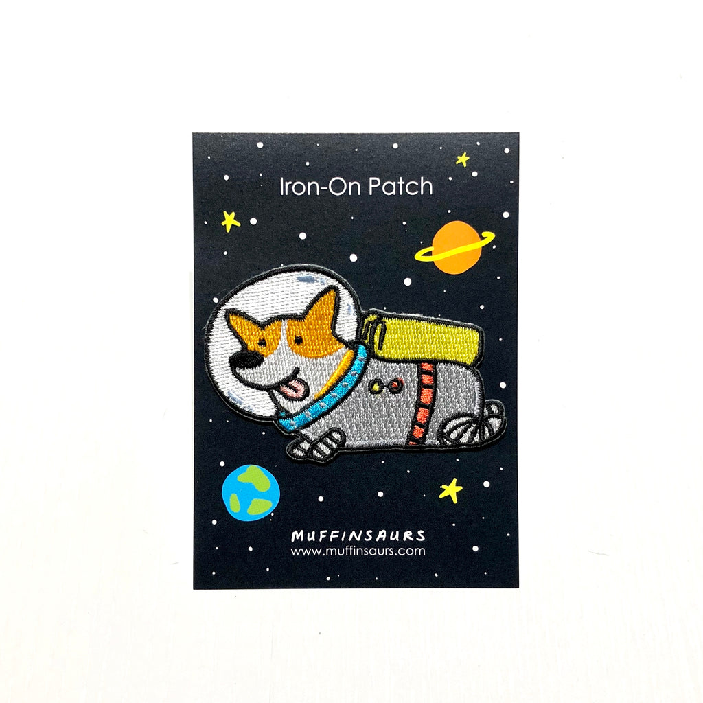 Astro Corgi Iron-On Patch