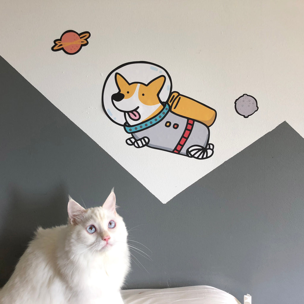 Astro Corgi Wall Sticker