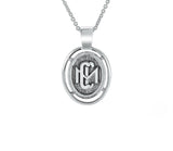 Sterling Silver CMC custom design class pendant by AMD Originals front view.