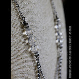 Handmade Chain Necklace, Crystal Necklace, Multi Strand Necklace