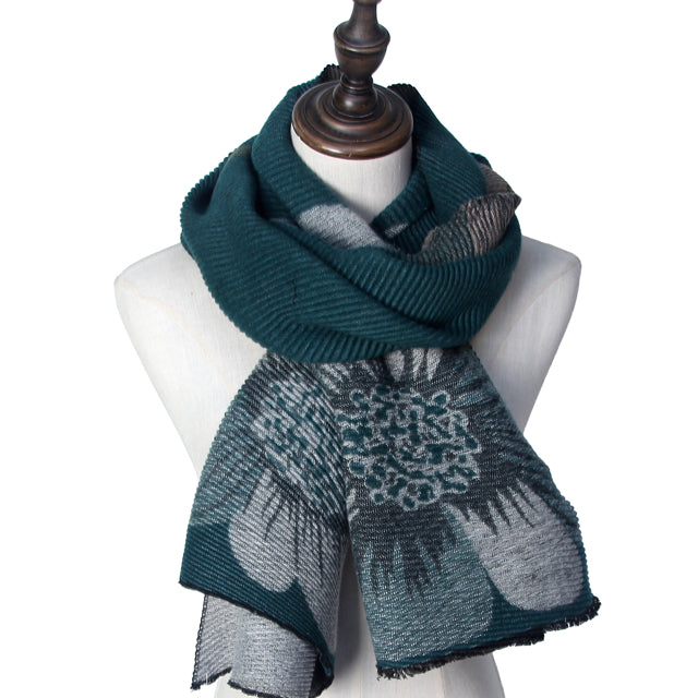 Scarves: Suave Daisies -Winter Scarf