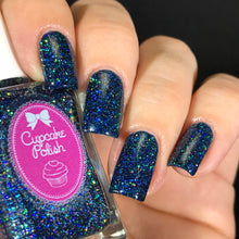 Cupcake Polish Sapphire - Blue Holographic Indie Nail Polish