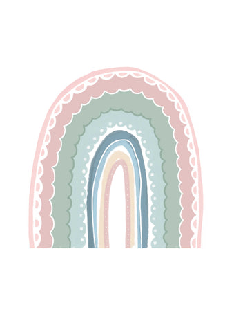 Rainbow Wall Stickers - Pink
