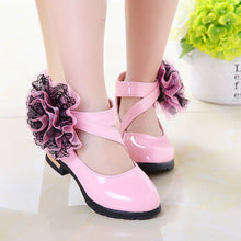 Roman Style Flowers Leather Shoes