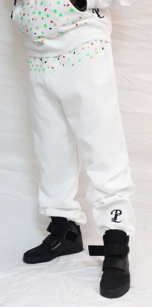 The Graffiti Cream 2 peice sweat suit