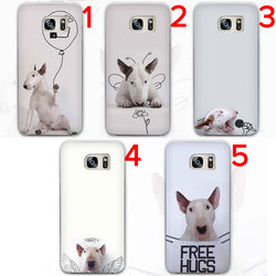 Bull Terrier Funny White Background Drawing Phone Case for Galaxy