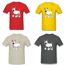Funny Bull Terrier Cartoon Men's T-Shirt