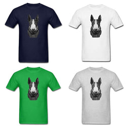 Bull Terrier Scarf and Suit Men's T-Shirt