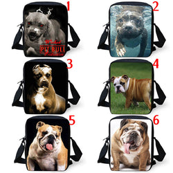 Pit Bull English Bulldog Full Size Portrait Shoulder Bag