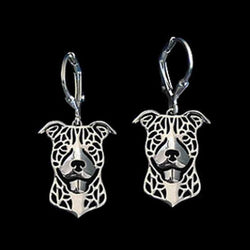 Happy Pit Bull Drop Earrings