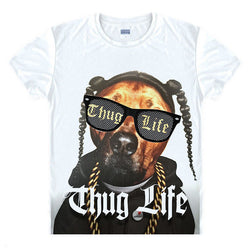 Pit Bull Snoop Dogg Thug Life Men's T-Shirt