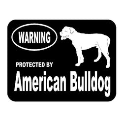 "Warning Protected By American Bulldog Sticker (5.5"" x 4.1"")"