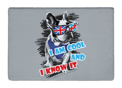 I Am Cool And I Know It French Bulldog Doormat