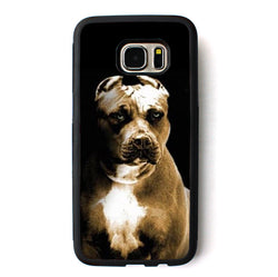 Big Blue Nose Pit Bull Battle Crop Ears Phone Case for Galaxy