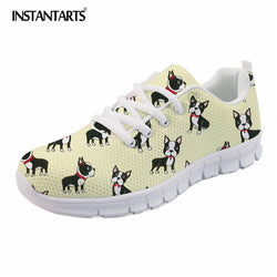 Boston Terrier Pattern Yellow Shoes