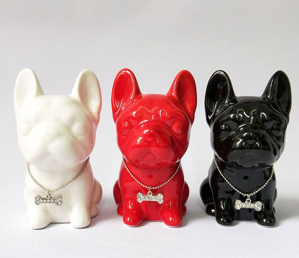 One Color Nordic French Bulldog Ceramic Home Decoration Figurine