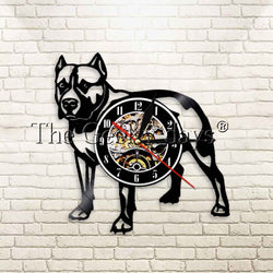 Pit Bull Outline Vinyl Wall Clock