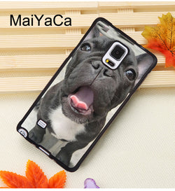 Black French Bulldog Puppy Mouth Open Tongue Roll Phone Case for Galaxy