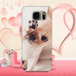White French Bulldog Baby Puppy Wiping Eye Phone Case for Galaxy