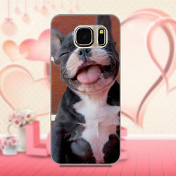 Happy Cute Laughing French Bulldog Puppy Phone Case for Galaxy