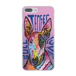 Bull Terrier Love Colorful Pattern Phone Case for iPhone