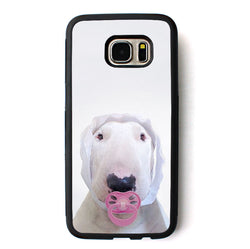 Bull Terrier Dressed Baby Pacifier Phone Case for Galaxy