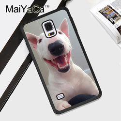 Bull Terrier Portrait Smiling Happy Phone Case for Galaxy