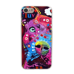Colorful Shape Pattern Pit Bull Luv Phone Case for iPhone