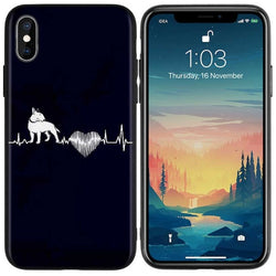 Bull Terrier Heart Beat Turning Back Phone Case for iPhone