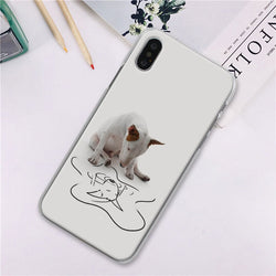 Bull Terrier Water Reflection Phone Case for iPhone