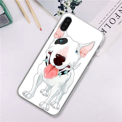Bull Terrier Cartoon Spike Collar Phone Case for iPhone