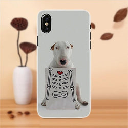 Bull Terrier X-Ray Red Heart Phone Case for iPhone