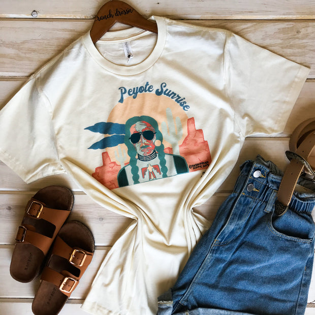 PEYOTE SUNRISE - CREAM TEE