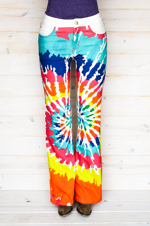TIE DYE BOOTCUT JEANS (YOUTH)