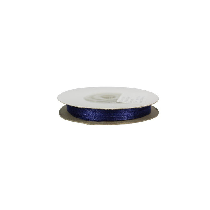 Navy Blue - 3mm x 25m - Satin Ribbon - Double Sided