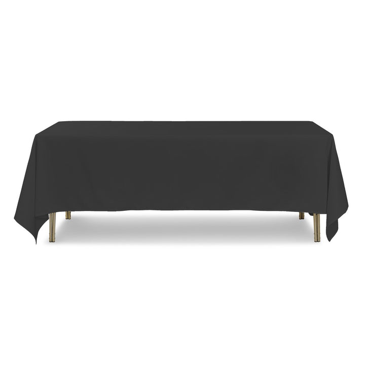 "Tablecloth - Rectangle - 70"" x 108"" - Black"