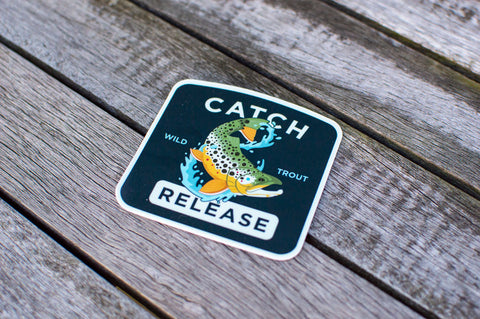 Catch & Release Sticker