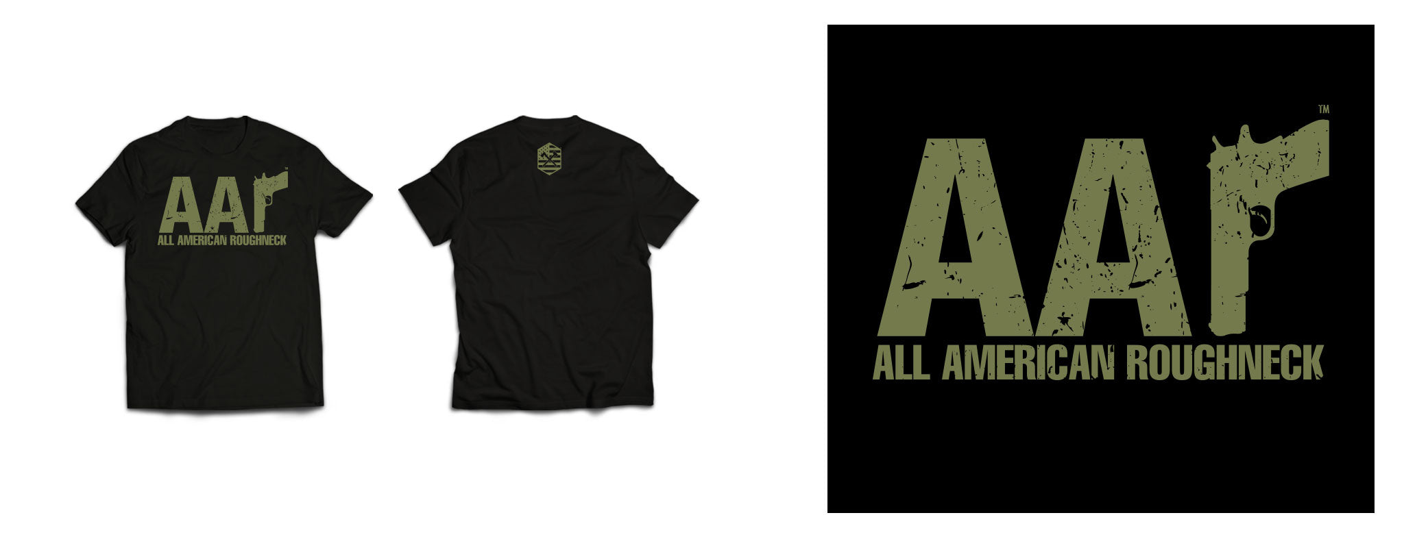 AAR Logo Tee Military on Black
