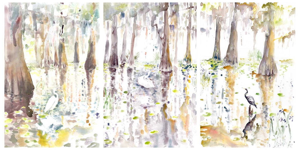 Custom Swamp Diptych