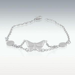 "Butterfly Charm Bracelet Cremation Jewelry - 8"" Long - HeroinSupport.org"