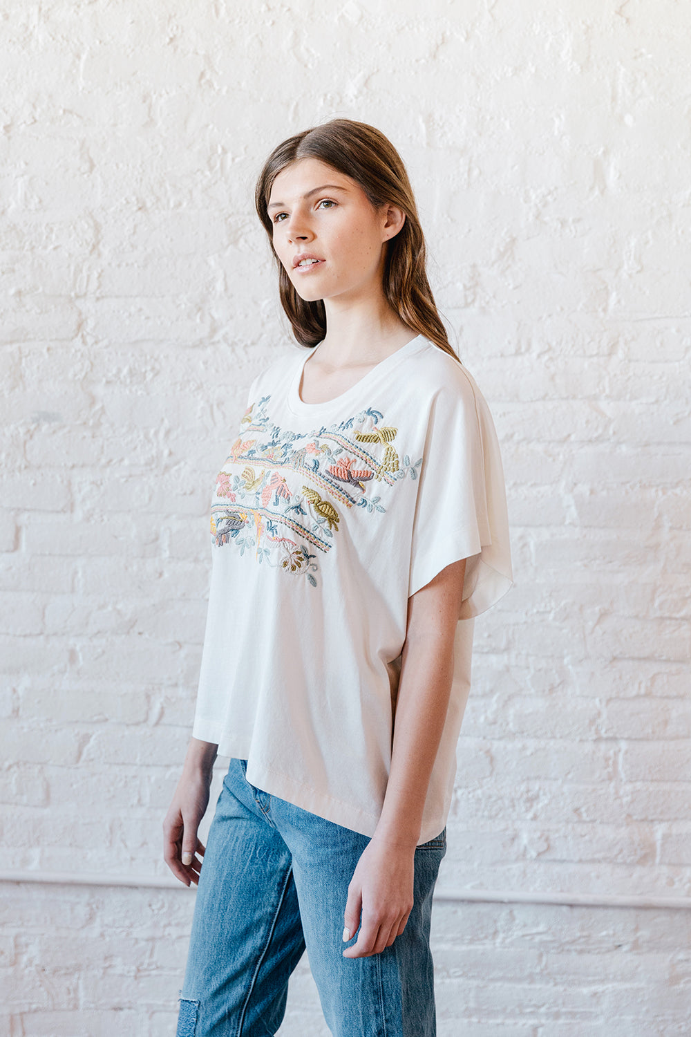 VOLOSHIN FRIDA EMBROIDERED TEE 2