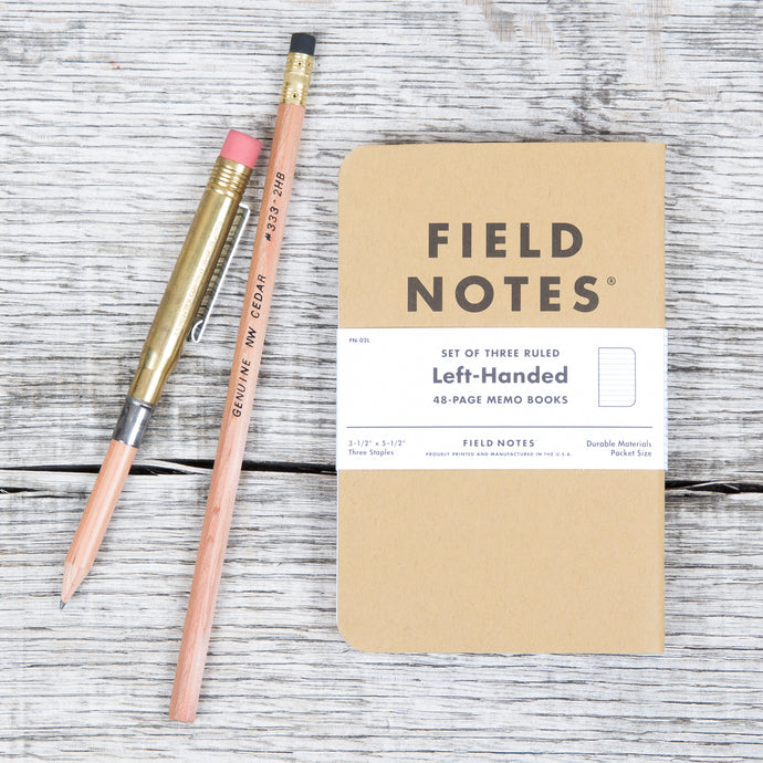 Field Notes 3-Pack Left Handed