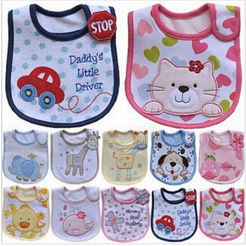 Baby Bibs Waterproof Baby Girl Boy Waterproof Bib Burp Cloths Toddler Feeding