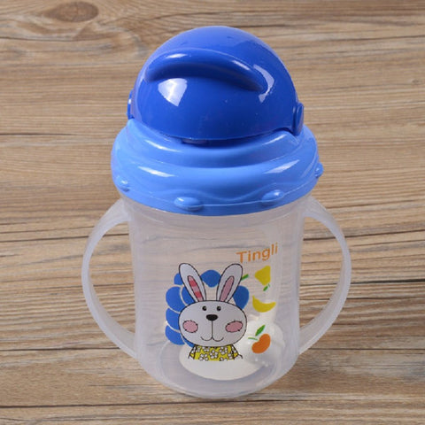 Water Juice Baby Bottle Sippy Cup With Handles Baby Cup Toddlers Sippy Cup Straw