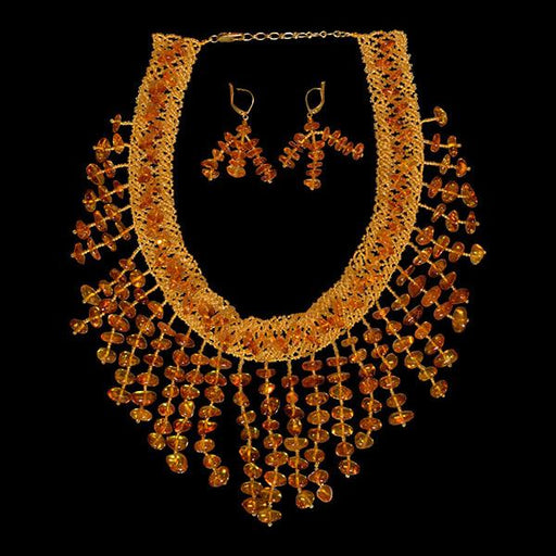 Waterfall Style Amber Necklace - The Shops at Mount Vernon - The Shops at Mount Vernon